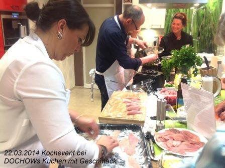 Kochevent im März bei DOCHOWs Küchen mit Geschmack in Berlin