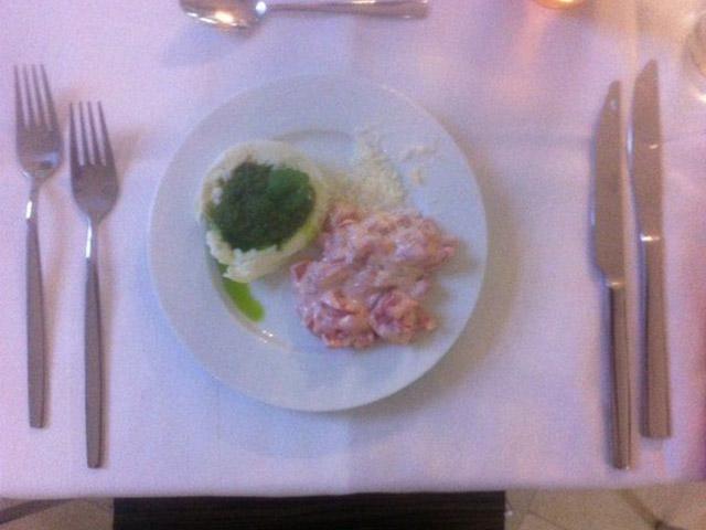 Vorspeise beim Maibock Kochevent bei DOCHOWs Küchen mit Geschmack in Berlin