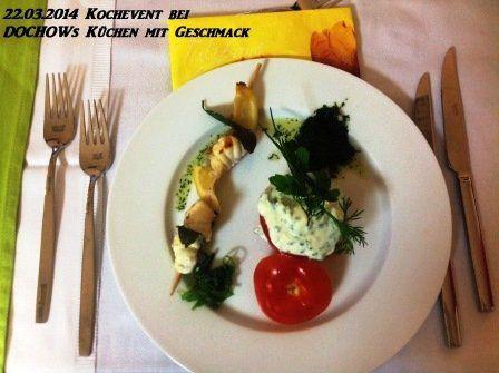 Vorspeise beim Kochevent im März bei DOCHOWs Küchen mit Geschmack in Berlin