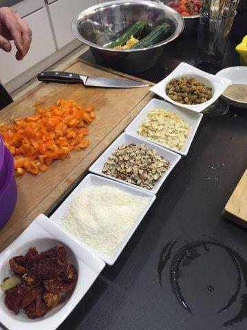 Zutaten für den Kochabend bei DOCHOWs Küchen mit Geschmack in Berlin